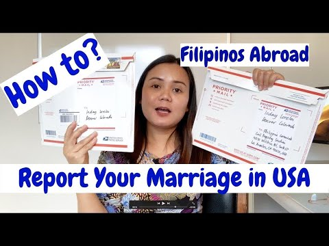 How To Assemble And Mail Your Report Of Marriage To Philippine Consulate In USA
