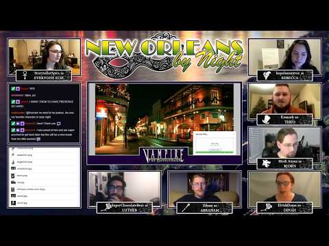 Vampire: the Masquerade - New Orleans by Night - Session 0 Character Development