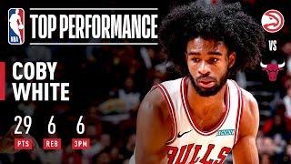 Coby White Sinks 6 THREES! | 2019 NBA Preseason