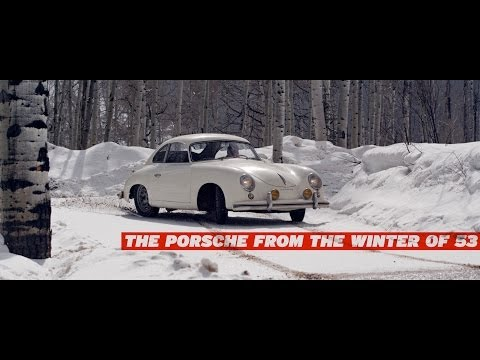 Watch a Classic Porsche 356 Drifting in the Snow!