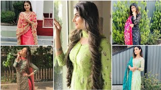 Simple poses in salwar suit for girls || best poses in suit||stylish poses idea in suit ||smileysoni screenshot 5