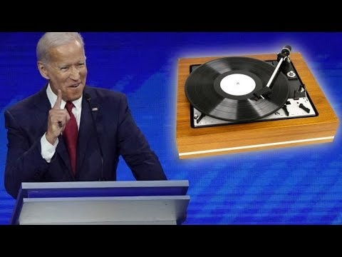 "Asked About Race, Biden Rambles About ""Record Players"" & ""Words"""