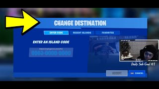 How To Enter Codes In Fortnite Creative ( Map Codes )