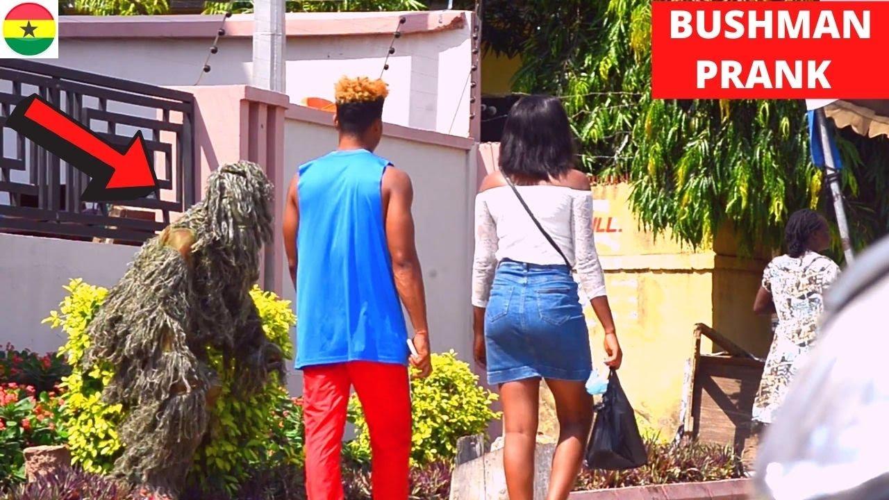 ???He Ran & Left His Girl! | Bushman Scare Prank 2021 | Laugh Hard! #28