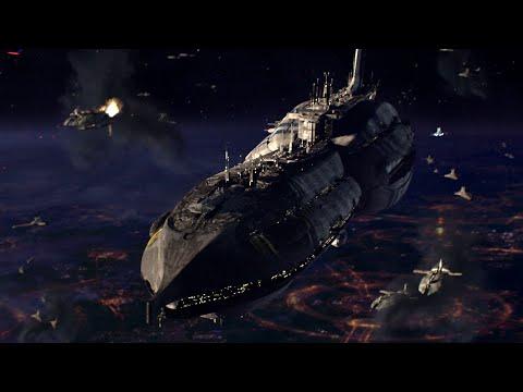 Star Wars Episode III: General Grevious's Ship (Invisible Hand) vs Republic Ship (Guarlara)