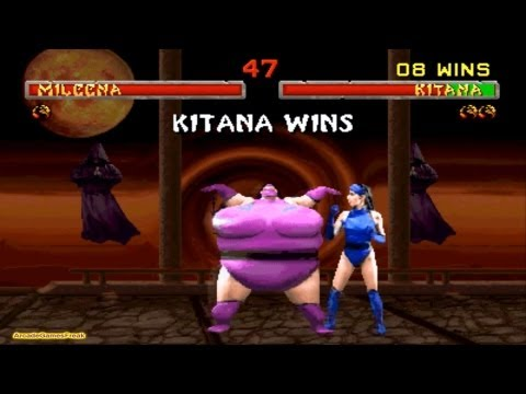 Mortal Kombat 2 Kitana Gameplay Playthrough