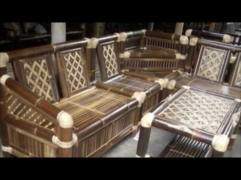 Bamboo Dining Room Chairs Table And