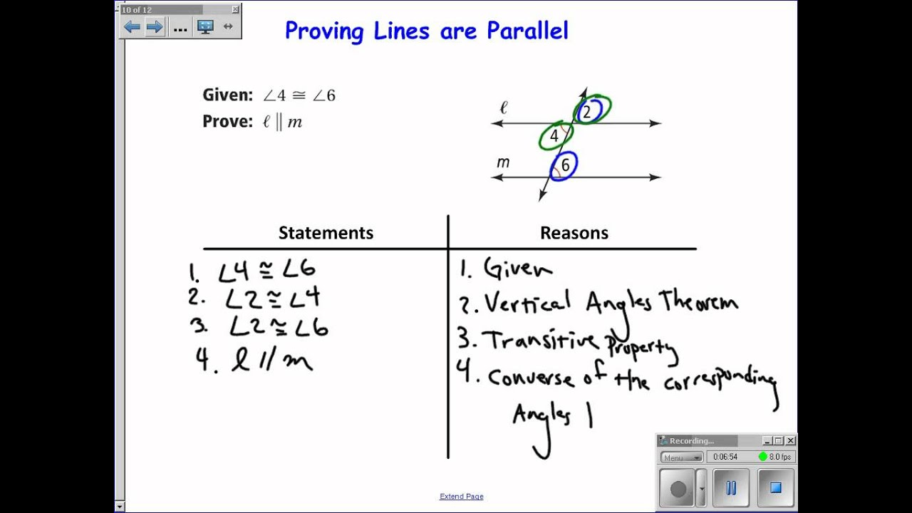 3-3 Proving Lines Parallel - YouTube