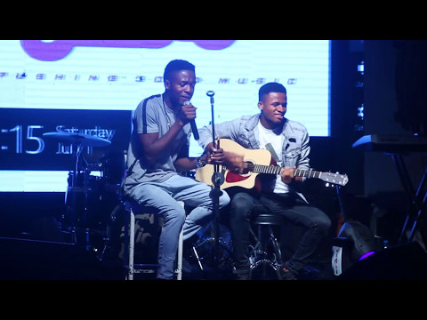 Johnny Drille performs (Wait For Me) at the PGM Live