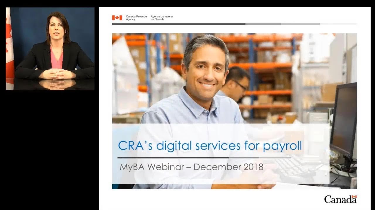 CRA's Digital services for payroll in My Business Account December