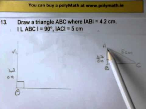 how to work out the length of hypotenuse