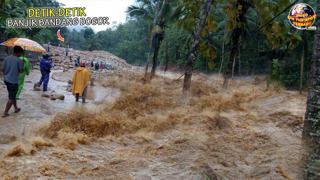 Suara Gemuruh Terdengar Saat Banjir Lumpur Terjang Gunung Mas Bogor, Warga Berlarian Menuju Bukit