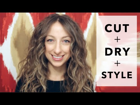 STYLE CURLY HAIR LONG BANGS