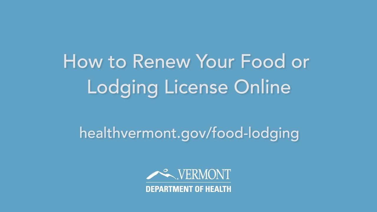 Food & Lodging Program | Vermont Department of Health
