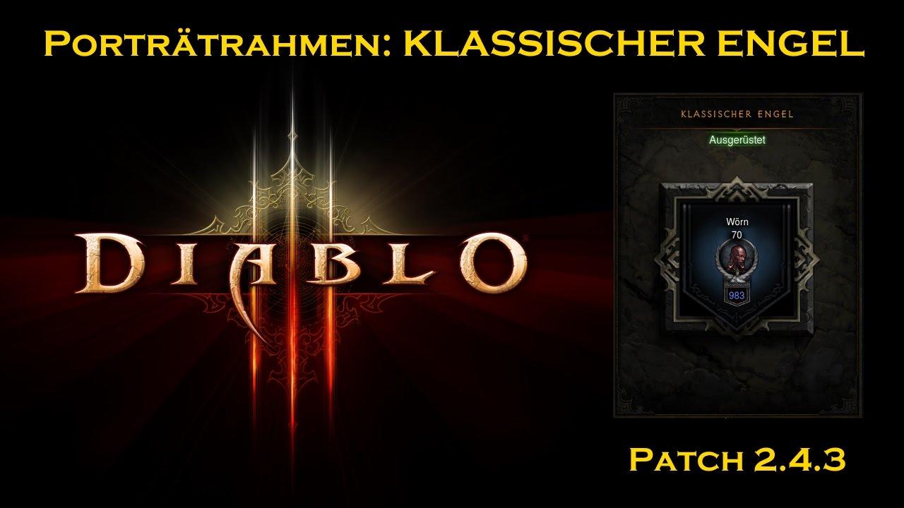 Diablo 3 Porträtrahmen Klassischer ENGEL (Patch 2.4.3 ) ♢ D3 Rahmen ...