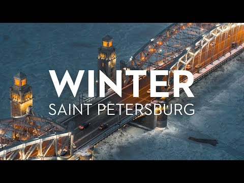 Winter Saint Petersburg Russia 6K. Shot on Zenmuse X7 Drone/