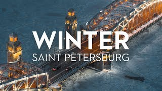 Winter Saint Petersburg Russia 6K. Shot on Zenmuse X7 // Зимний Петербург, аэросъёмка