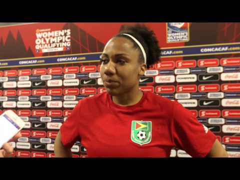 Chante Sandiford - Canada vs Guyana Post-Game Feb 11, 2016