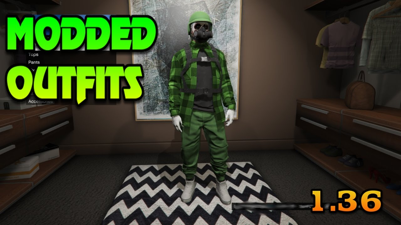 GTA 5 Online MODDED OUTFITS 1.36 - YouTube