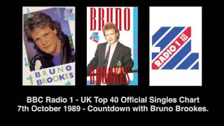 bbc radio 1 uk top 40 official singles chart 7th october 1989 countdown with bruno brookes