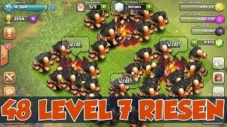 RIESEN AUF 7 geGEM´D ++ 48 LVL 7 RIESEN GAMEPLAY | Clash of Clans | xMas Update |