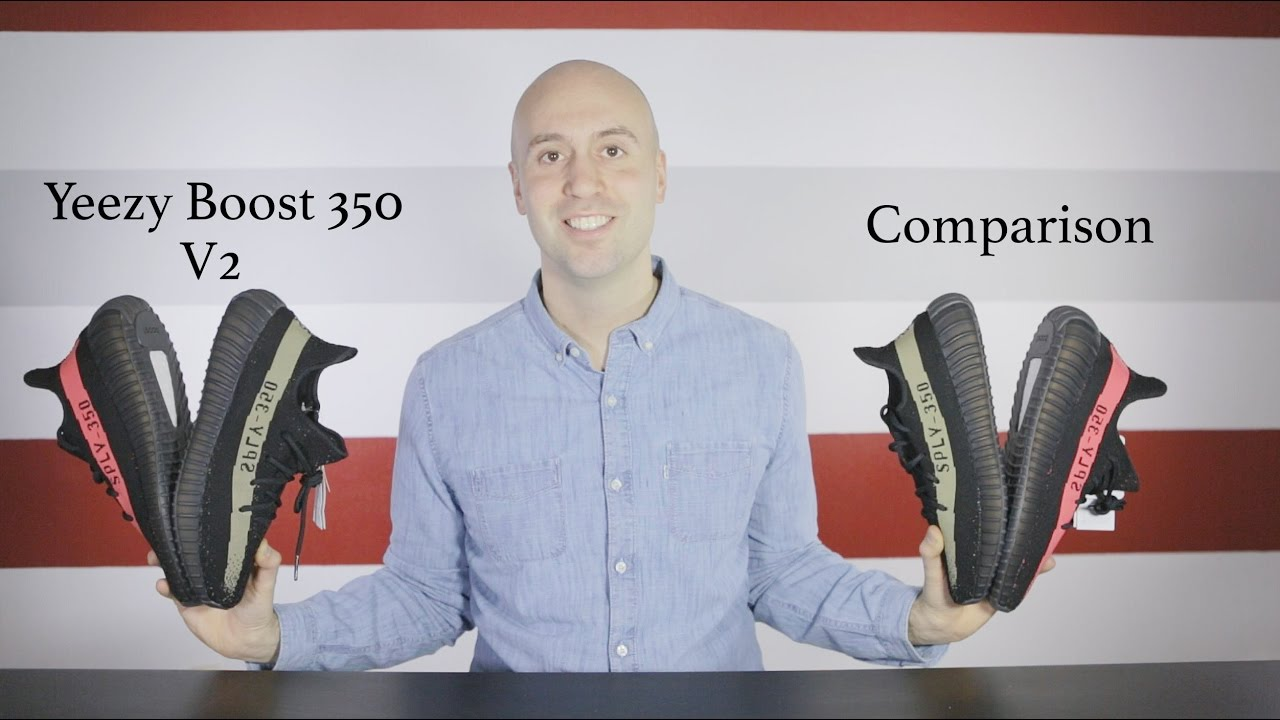 new arrival c290a 1a954 Yeezy Boost 350 V2 Black and Red Comparison - Unboxing - Review - On Feet - Mr  Stoltz 2016 - YouTube