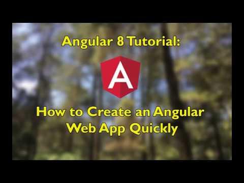 Angular 8 Tutorial: How to Create an Angular Web App Quickly thumbnail