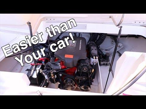 Inboard Boat Engine Oil Change - Volvo Penta 5.7