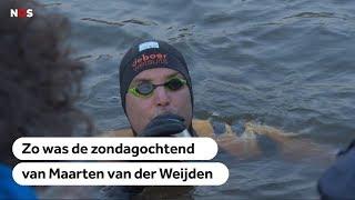 Zondagochtend Elfsteden Zwemtocht: Maarten van der Weijden is over de helft