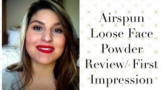 Airspun Loose face powder Review/ First impression Thumbnail