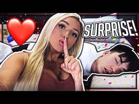 Veras boyfriend was sweetly surprised