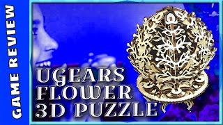 WE ARE ASSEMBLING MECHANICAL PUZZLE by UGEARS - FLOWER