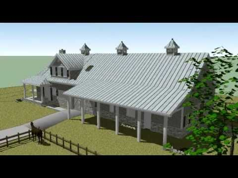 3d Model Animation Of A Horse Barn With Living Quarters Ft