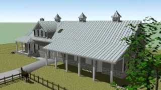 3D Model Animation of a Horse Barn with Living Quarters Ft. Worth Texas