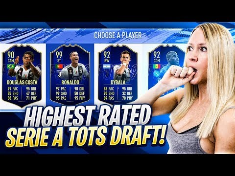 FIFA 19 HIGHEST RATED SERIE A TOTS FUT DRAFT CHALLENGE!!