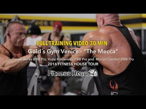 "Golds Gym Venice ""The Mecca"" FULL TRAINING"