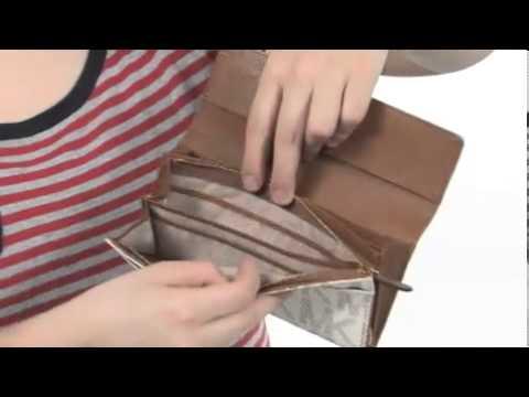a648e27e2b49 MICHAEL Michael Kors MK Signature Saffiano Large Slim Flap SKU    8067264 -  YouTube