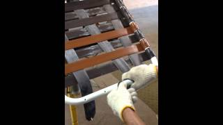 How to install criss cross straps on patio furniture