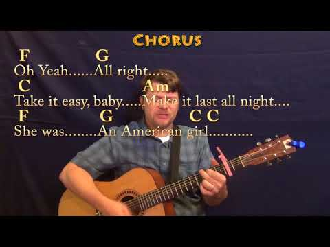 American Girl (Tom Petty) Guitar Cover Lesson with Chords/Lyrics - Capo 2nd - 8th Strum