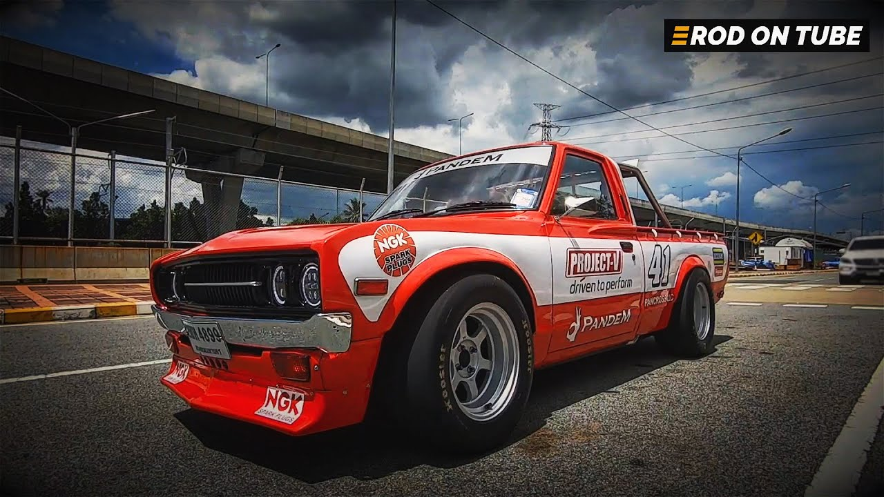 DATSUN 620 NASCAR LOOK! ขุมพลัง 3S-GTE เทอร์โบ 3 ลูกห้อยท้ายแรงบันดาลใจจากสปอร์ตคาร์ - Rod On Tube