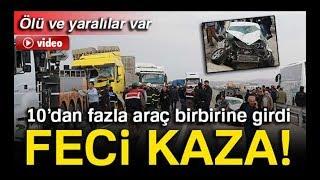 Aksaray'da kaza ölü ve yaralılar var