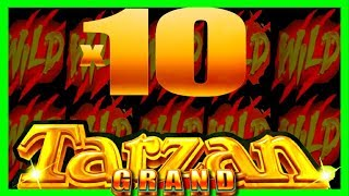 BACK TO BACK MAX BET BONUSES on Tarzan Slot Machine W/ SDGuy1234