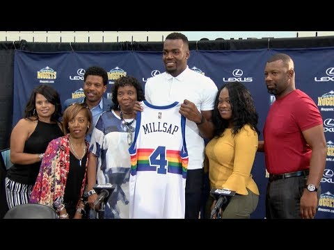Paul Millsap introduced as Denver Nugget in Montbello homecoming