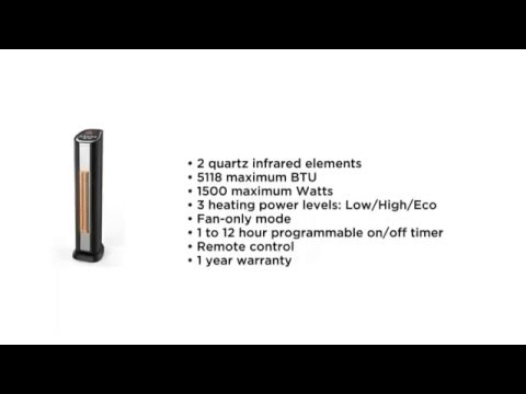 Lifezone Tower Heater Amp Fan With Oscillation Amp Remote