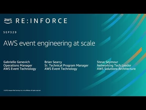AWS re:Inforce 2019: AWS Event Engineering at Scale (SEP329)