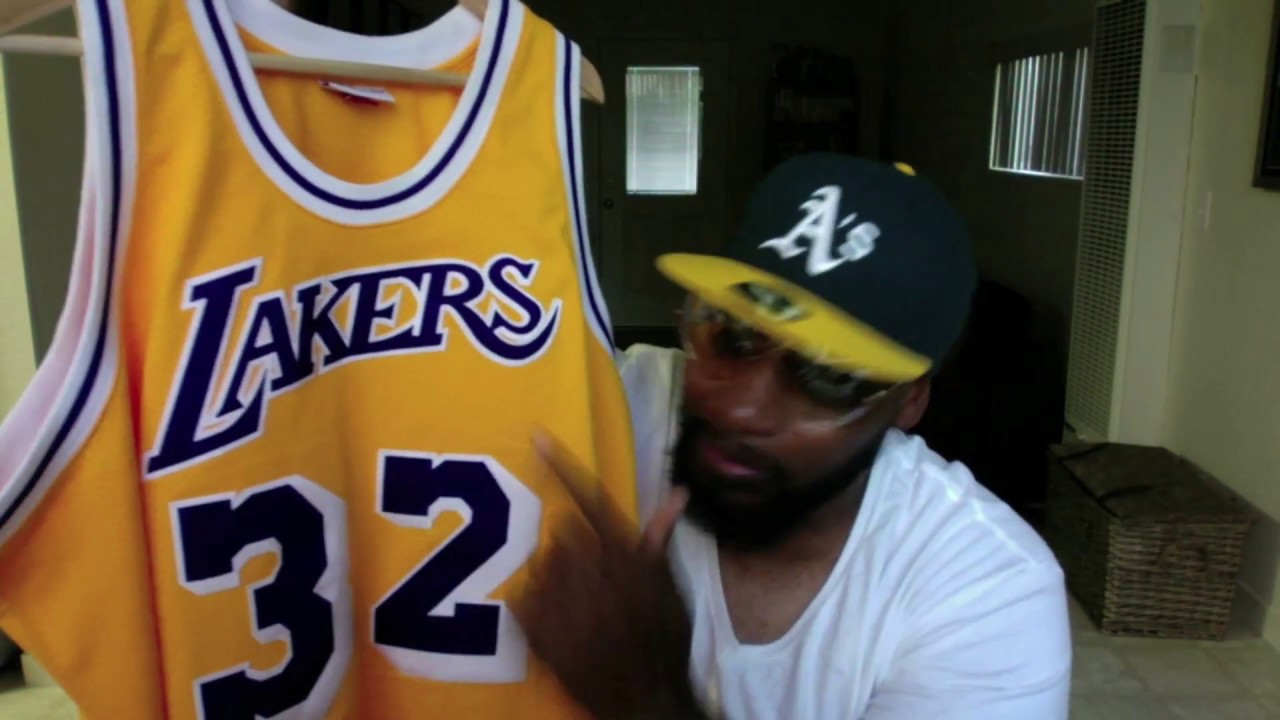 8836d46d2ef LA Lakers Magic Johnson Mitchell & Ness Jersey, Kobe Instinct's, Stance  Socks (Swagged Series)