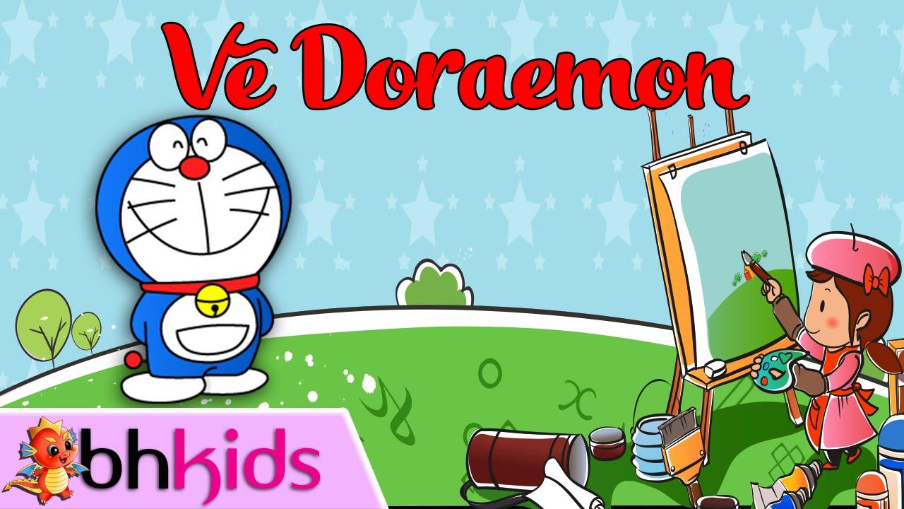 Vẽ Doraemon | Cách Vẽ Nhân Vật Hoạt Hình Đơn Giản