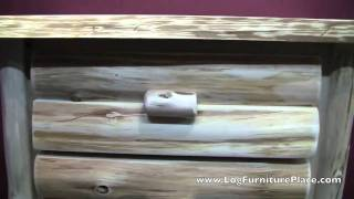 Cedar Lake Logger 4 Drawer Log Chest   Log Dresser From Logfurnitureplace.com