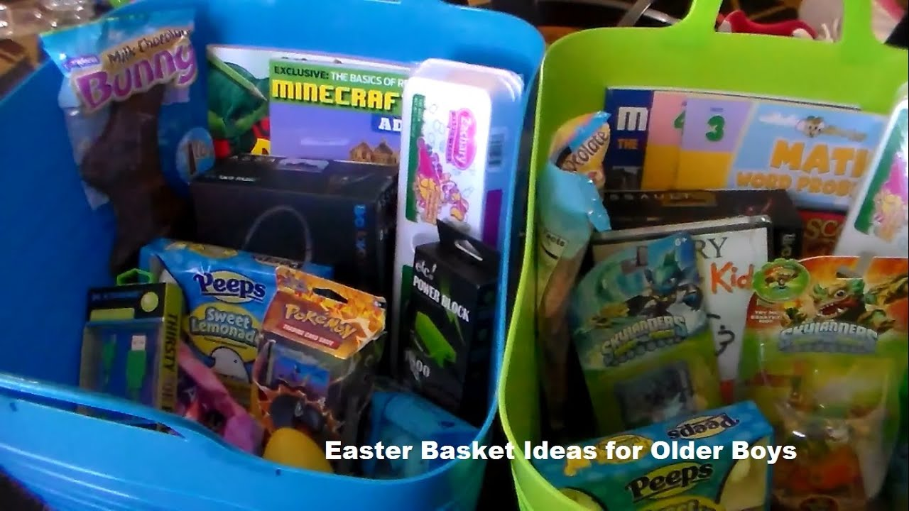 Easter basket ideas for older boys youtube negle Choice Image