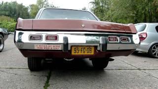Dodge Dart met 360 CID van 1973 met maatwerk RVS asbuizen van EPS Uitlaten